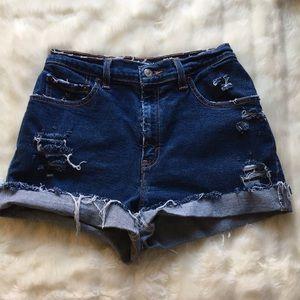 Levi 550 Distressed Denim Shorts 6 Mis
